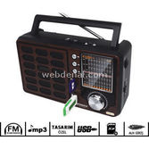Kamosonic Ks-mr119 Nostalji Severlere Özel Usd-sd-mp3-aux'lu Mini Radio
