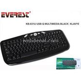 Everest Kb-831u Siyah Usb Multimedia Q Klavye
