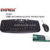 Everest Un-664 Siyah Usb Multimedia Klavye + Mouse Set