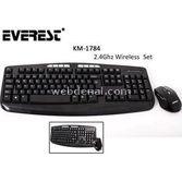 Everest Km-1784 Siyah Nano,kablosuz, Q, Tr,  Multimedia Klavye + Mouse Se