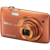 "Nikon Coolpix S3500 20.1 Mp 7x Optik 2.7"" Lcd Digital Kompakt Turuncu"