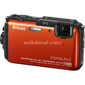 "Nikon Coolpix Aw110 16 Mp 5x Optik 3.0"" Lcd Wi-fi Gps Digital Kompakt Turuncu"