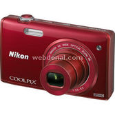 "Nikon Coolpix S5200 16 Mp 6x Optik 3.0"" Lcd Wi-fi Digital Kompakt Kırmızı"