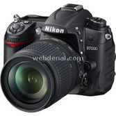 "Nikon Camera-d7000-kit Dslr Fotoğraf Makinesi 16.2 Mp 3"" Lcd Ekran + 18-105mm Vr Lens"