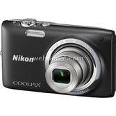 "Nikon Coolpix S2700 16 Mp 6x Optik 2.7"" Lcd Dijital Kompakt Siyah"