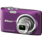 "Nikon Coolpix S2700 16 Mp 6x Optik 2.7"" Lcd Dijital Kompakt Mor"