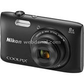 "Nikon Coolpix-s3600b Com 20mp 8x 2,7"" Hd"