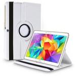 Microsonic 360 Rotating Stand Deri Samsung Galaxy Tab S 10.5 T800 Kılıf Beyaz