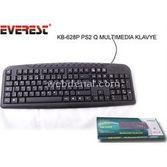 Everest Kb-628p Siyah Ps2,kablolu, Q, Tr,  Multimedia Klavye