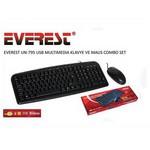 Everest Un-795 Siyah Usb Klavye + Mouse Set