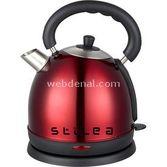 Stilea Lf1009 Kirmizi Çaydanlik Tipi 2200watt 1.7litre Paslanmaz Çelik Su Isitici