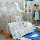 Kidboo Happy Birthday Blue 4 Parça Bebek Nevresim Takimi