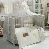 Kidboo Honey Bear Linen 4 Parça Bebek Nevresim Takimi