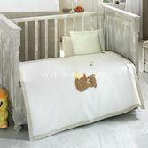 Kidboo Honey Bear Linen 4 Parça Bebek Pike Takimi