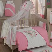 Kidboo Sweet Home Pink 4 Parça Bebek Nevresim Takimi