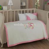Kidboo Sweet Home Pink 4 Parça Bebek Pike Takimi