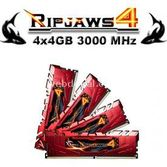 Gskill Ripjaws4 Kirmizi Ddr4-3000mhz Cl15 16gb (4x4gb) Quad (15-15-15-35) 1.35v