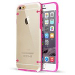 Microsonic Hybrid Tranparant Iphone 6 Plus 5.5'' Kilif Pembe