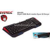 Everest Kb-855 Siyah Usb Oyun Q Multimedia Klavye