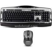 Everest Km-8646 Siyah/gümüş Kablosuz Süper Güçlü Q Standart Klavye + Mouse Set