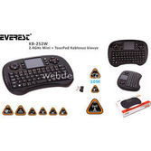 Everest Kb-252w Siyah 2.4ghz Mini + Toucpad Q Multimedia Kablosuz Klavye