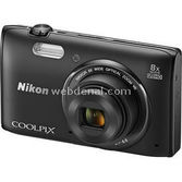 "Nikon Coolpıx S5300 16 Mp 8x Optik 3"" Lcd Wi-fi Full Hd Dijital Kompakt Siyah"