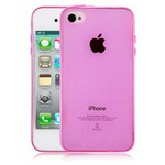 Microsonic Transparent Soft Iphone 4s Kılıf Pembe