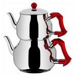 Taç Asya Büyük Çaydanlık Takımı (kırmızı)