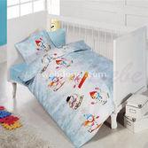 Cotton Box 27005 Bebek Nevresim Takımı 100x150 Emprime Kardan Adam