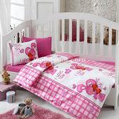 Cotton Box 27005 Bebek Nevresim Takımı 100x150 Emprime Pembe Dünyam