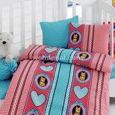 Cotton Box 27005 Bebek Nevresim Takımı 100x150 Emprime Minnoş-kırmızı