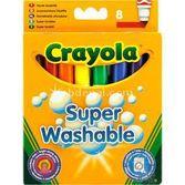 Crayola Süper Yıkanabilir Keçeli Kalem 8 Adet 5010065083288