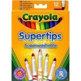 Crayola Yıkanabilir Parlak Ince Keçeli Kalem 12 Adet 5010065075092