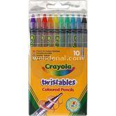 Crayola Çevrilebilen Kuru Boya Kalemi 10 Adet 5010065036345