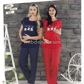 Haluk Baha Lohusa Pijama Takım Kırmızı M