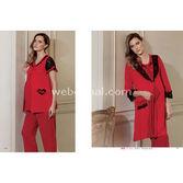 ARTıS Lohusa 3'lü Pijama Takım Kırmızı L