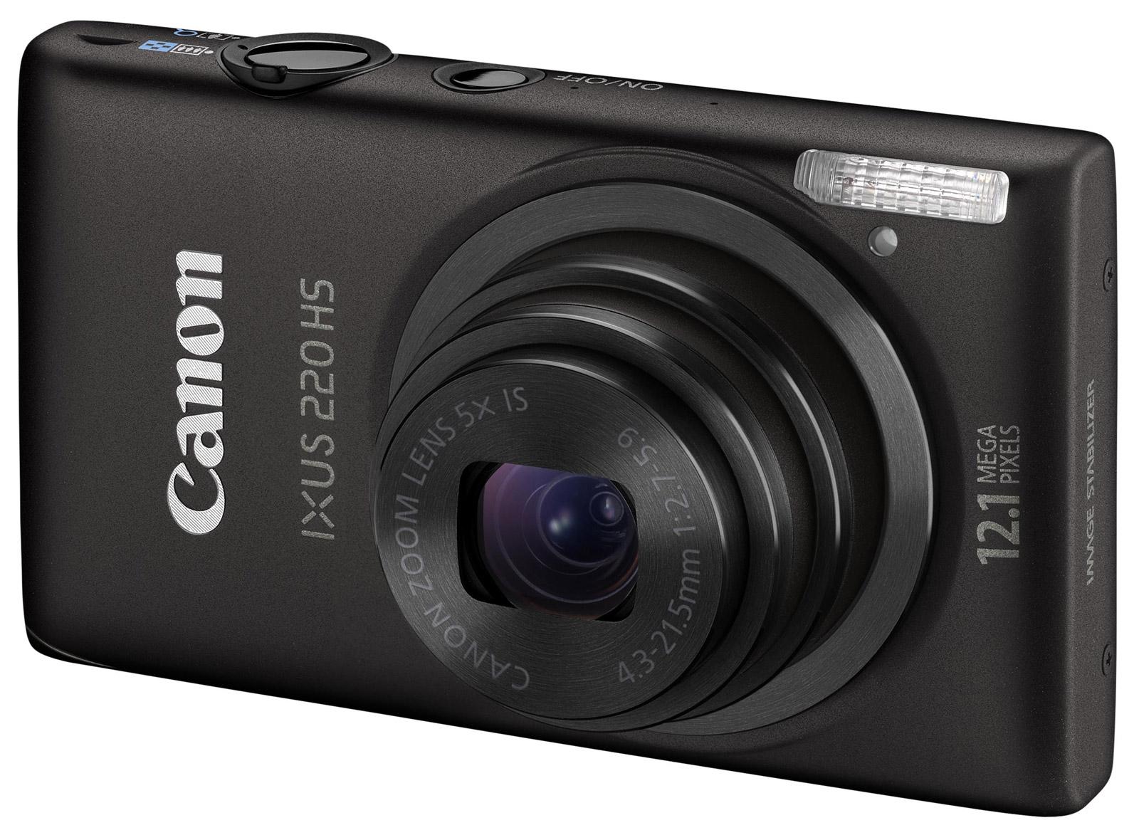 Resim canon hs220 siyah dijital fotoğraf makinesi