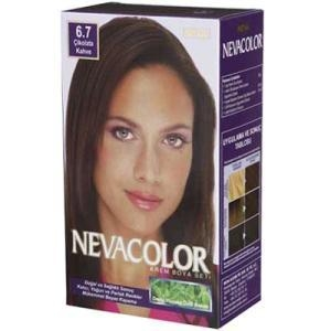 Neva Color NEVACOLOR SET 6.7 ÇİKOLATA KAHVE SAÇ BOYASI SET resim