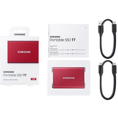Samsung T7 1tb Taşınabilir Ssd - Kırmızı (mu-pc1t0r-ww) - Outlet