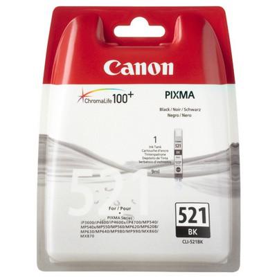 Canon CLI-521BK Siyah Mürekkep Kartuş