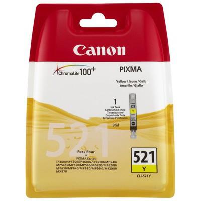Canon CLI-521Y Sarı Mürekkep Kartuş