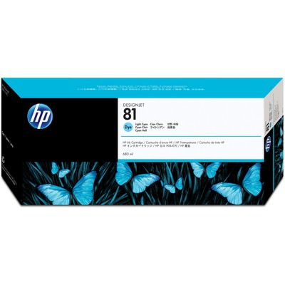 HP C4934a Light Cyan Mürekkep  (81) Kartuş