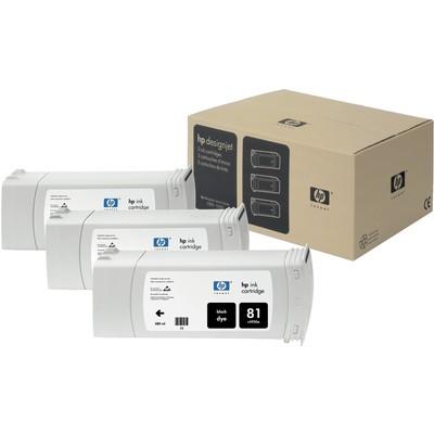 HP C5066A 81 3'lü Siyah Kartuş
