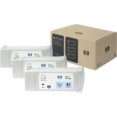 HP C5070A 81 3'LÜ Açık Mavi Kartuş