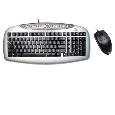 A4 Tech KB-21620D KLAVYE Mouse SET / Siyah / PS2 Klavye Mouse Seti