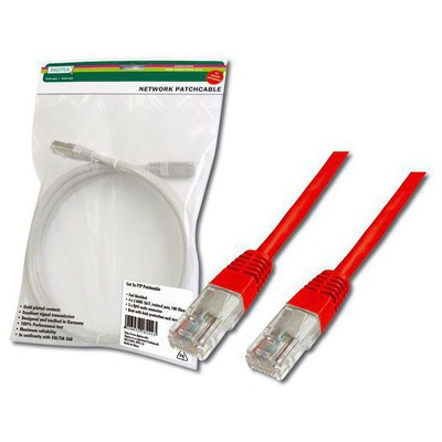 Digitus Dk-1511-030-r 3 Metre Cat5 Utp Patch Cord Kırmızı Rj-45 Network Kablosu