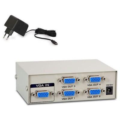 S-Link MSV-1415 4 Port VGA Çoklayıcı Splitter Çevirici Adaptör