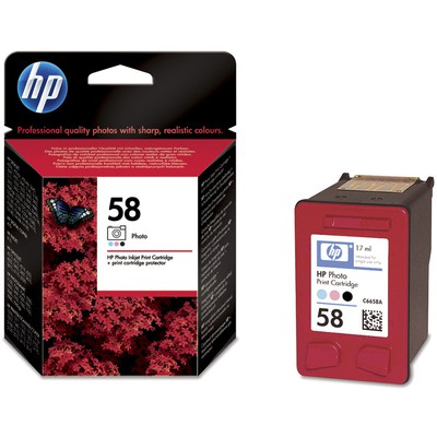 HP 58 Foto Siyah Kartuş C6658A