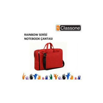 "Classone Nb156r-2 15,4""/15,6"" Uyumlu Rainbow Srs Su Geçirmez Notebook Çantası Kırmızı R Laptop Çantası"