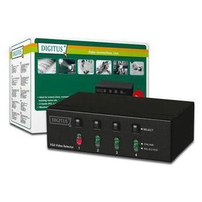 Digitus DS-45100 4 Port VGA Seçici (Selector) VGA Kablolar